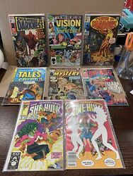 Lot Of 8 Vintage Comic Books Vision Scarlet Witch She Hulk More