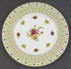 Royal Albert Old Country Roses Casual Plaid Salad Plate 2630483