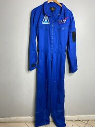 Vintage Made In Usa 80's Nasa Space Camp Flying Suit In Size Xl