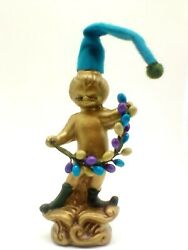 hh Holt Howard Mid Century Christmas Pixie Elf Cherub Angel With Berry Swag