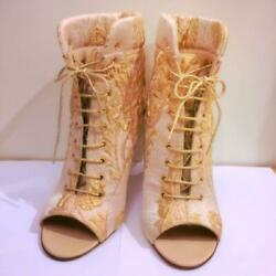 Lace-up Short Boots From Japan Fedex No.4340