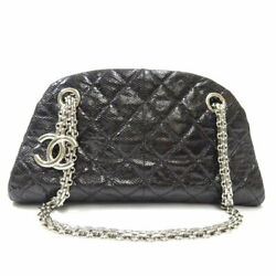 Mademoi Chain Shoulder Bag Women And039s Black Silver Fittings No.6289