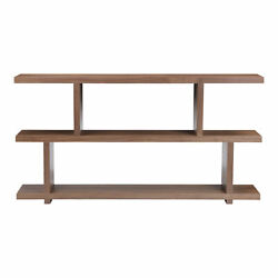Moe's Home Contemporary Miri Small Walnut Shelf With Brown Finish Er-1072-03