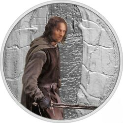 Aragorn - Lord Of The Rings Middle Earth 1 Oz Silver Coin 2 Niue 2021