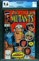 New Mutants 87 Cgc 9.6 1st Cable Comic Book 1990 2030203002