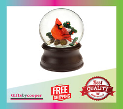 The San Francisco Music Box Company Hand Crafted Cardinal Snow Globe From New
