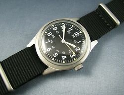 Vintage Benrus Stainless Steel Gg-w-113 Us Military Vietnam Mens Watch 1973