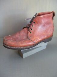 Gokey 105d Vintage Brown Leather Heavy Gro-cord Rubber Sole Boots 9
