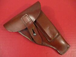 Wwii Era German Police Leather Flap Holster For The Sauer 38h Pistol - Xlnt