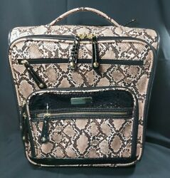 Nwt Samantha Brown Embossed Rolling Carry-it-all Snakeskin