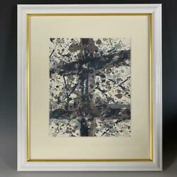 Sam Francis Untitled Lithograph Limited 150 Autographed From Japan