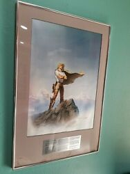 Vintage Lithograph Signed Vision L Ron Hubbard Battlefield Earth Fantasy