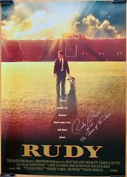 Rudy Ruettiger Autographed Signed Rudy Movie Poster The Power Of The Dream