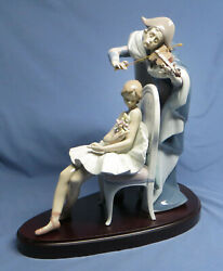 Large Lladro 5932 Jester's Serenade Ballerina Signed Numbered W/box And Base Mib