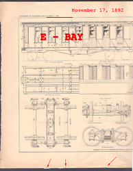 1892 Special Passenger Car Worlds Columbian Expo Illinois Central Rr Schlacks