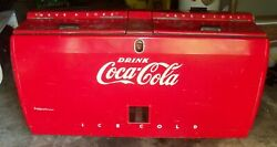 1950s Westinghouse Wd22 Coca Cola, Coke, Refrigerated Cooler Chest, 6 Feet Long
