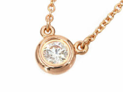 And Co. By The Yard Necklace Women 's Approximately 0.18 Ct K18pg No.5735