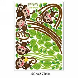 Decor Wall Sticker Gift Home Living Room Monkey Removable Tree Durable