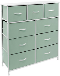Nightstand Chest 9 Drawers Bedside Organizer Dresser Furniture For Bedroom And O