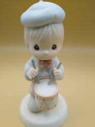 Enesco Precious Moments Marching To The Beat Of Freedom's Drum 1995 Vintage