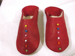 Leather Slippers Handmade Red Baboushe Morrocanslippers Babouche Slippers For Wo