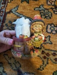 YANKEE CANDLE NUT BABY WITH APPLES VOTIVE HOLDER