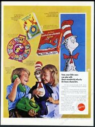 1970 Dr. Seuss Cat In The Hat Mattel O Phone See N Say Fish A Ma Jigger Photo Ad