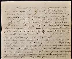 1861 Antique Deed York Pa Robt Wallace Sam Cross Real Estate