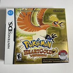 Pokemon Heartgold Box And Game And Case With Manuals No Poke-walker Authentic