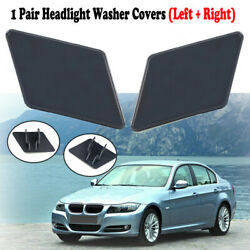 2pcs Bumper Tow Hook Cover Washer Lid Eye Cap For Bmw 3-series E90 E91 2008-2012