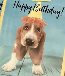 Set of 3 BASSET HOUND 🎈PUPPY Happy Birthday GIFT BAGS New FREE SHIPPING Pup