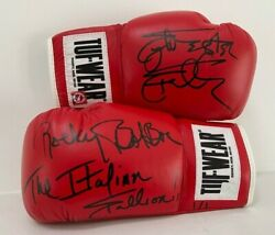 Sylvester Stallone Italian Stallion Rocky Autographed Boxing Gloves Asi Proof