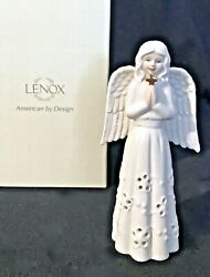Lenox ANGEL HOLDING CROSS 5quot; TALL PORCELAIN FIGURINE New in Box