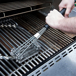18 Bbq Grill Barbecue Cleaning Brush Cleaner Stainless Steel For Rack Burner