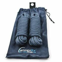 """Wavesrx Premium Dock Line 5/8"""" X 25' For Larger Boats   Double Braided Nylon Mar"""