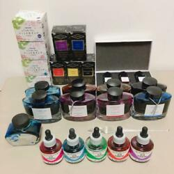 Fountain Pen Ink Bulkset Of 25 With Glass