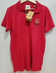 NEW Burberry London England Men#x27;s Short Sleeve Polo Shirt quot;NEW Embroidered LOGOquot; $99.99