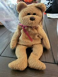 Ty Beanie Babies Curly The Bear Plush - 4052 All Errors Red Star Mint