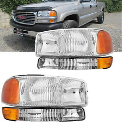 For 2001-2004 Toyota Tacoma Headlights Assembly Corner Signal + Bumper Lamps