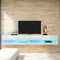 71 Tv Stand Wall Mounted Floating With 20 Color Led All High Gross Tv Consoles