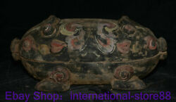 13.6 Old China Han Dynasty Painting Pottery Dynasty Palace Pig Beast Tableware