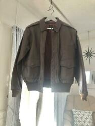 Eastman Leather Clo. Air Force Us Army Type A-2 40 Used Good From Japan F/s