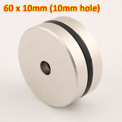N35 60x10mm Rare Earth Diy Strong Ring Neo Neodymium Disc Round Magnet 10mm Hole