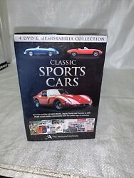Classic Sports Cars 4 Dvd Set And Memorabilia Collection New Sealed