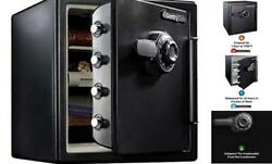 Sfw123cu Fireproof Waterproof With 1.23 Cubic Feet, Black Safe Dial Combination