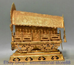 8 Antique Chinese 24k Gold Gems Dynasty Palace Dragon Beast Coffin Tabut