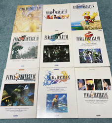 Used Sheet Music Final Fantasy 1-10 + 1 Piano Solo With Fun 9 Book Set