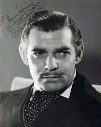 Clark Gable Rhett Butler Gone With The Wind Signed Autograph 8x10 Photo Reprint