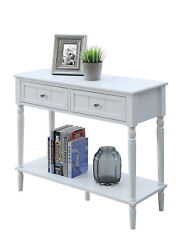 Convenience Concepts French Country 2 Drawer Hall Table With Shelf R3-0179