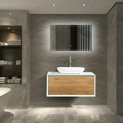 Fiona 36 Inch Wall Mounted Bathroom Vanity Set With Mdf Laquered Countertop